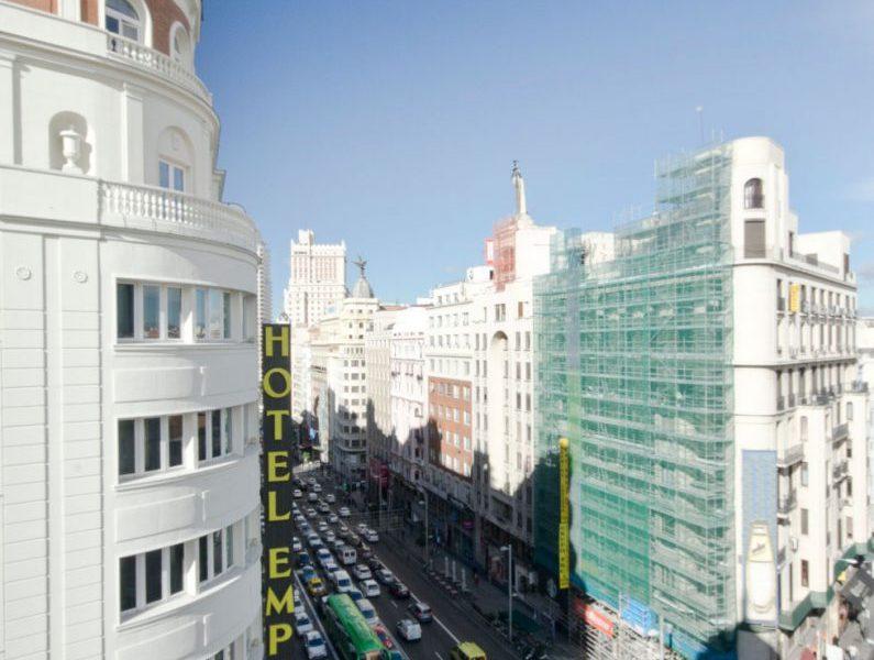 Vista piso Larvin Gran Vía Madrid