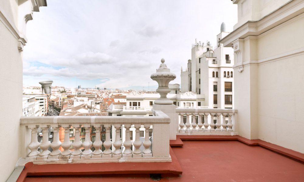 Terraza piso Larvin Gran Via Madrid