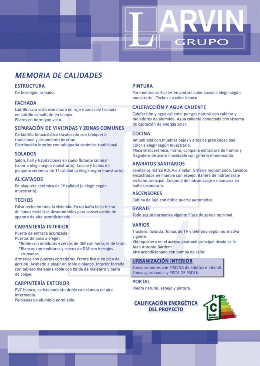 MEMORIA DE CALIDADES LARVIN RESIDENCIAL