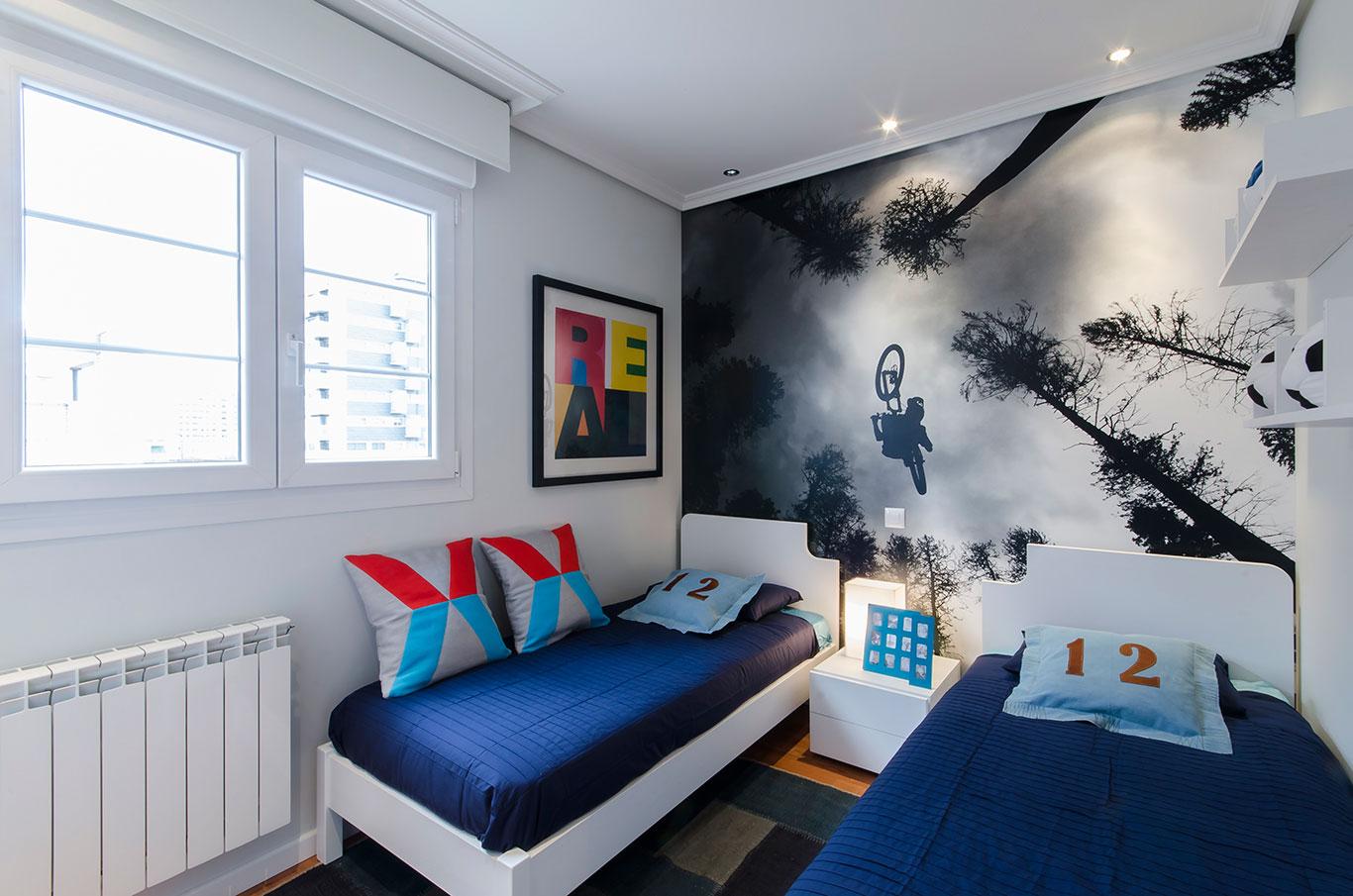 Dormitorio dos camas chalet Móstoles