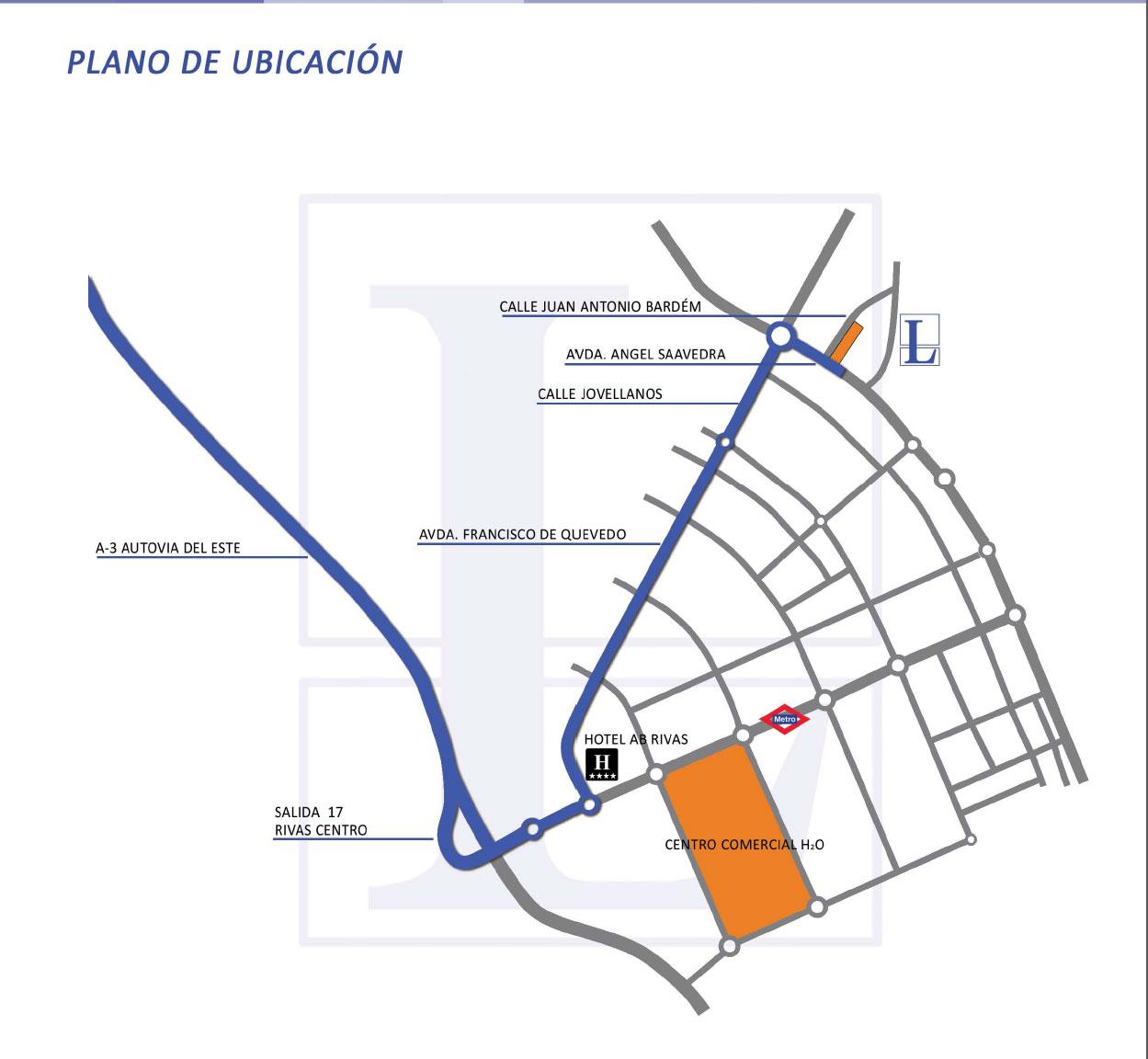Localización de los pisos de Rivas Vaciamadrid residencial Larvin