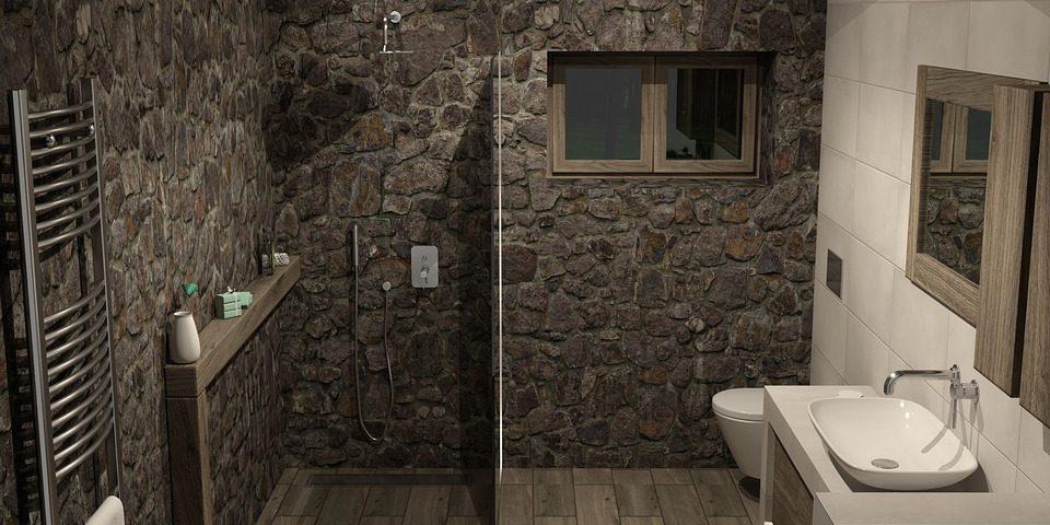 bano con piedras naturales