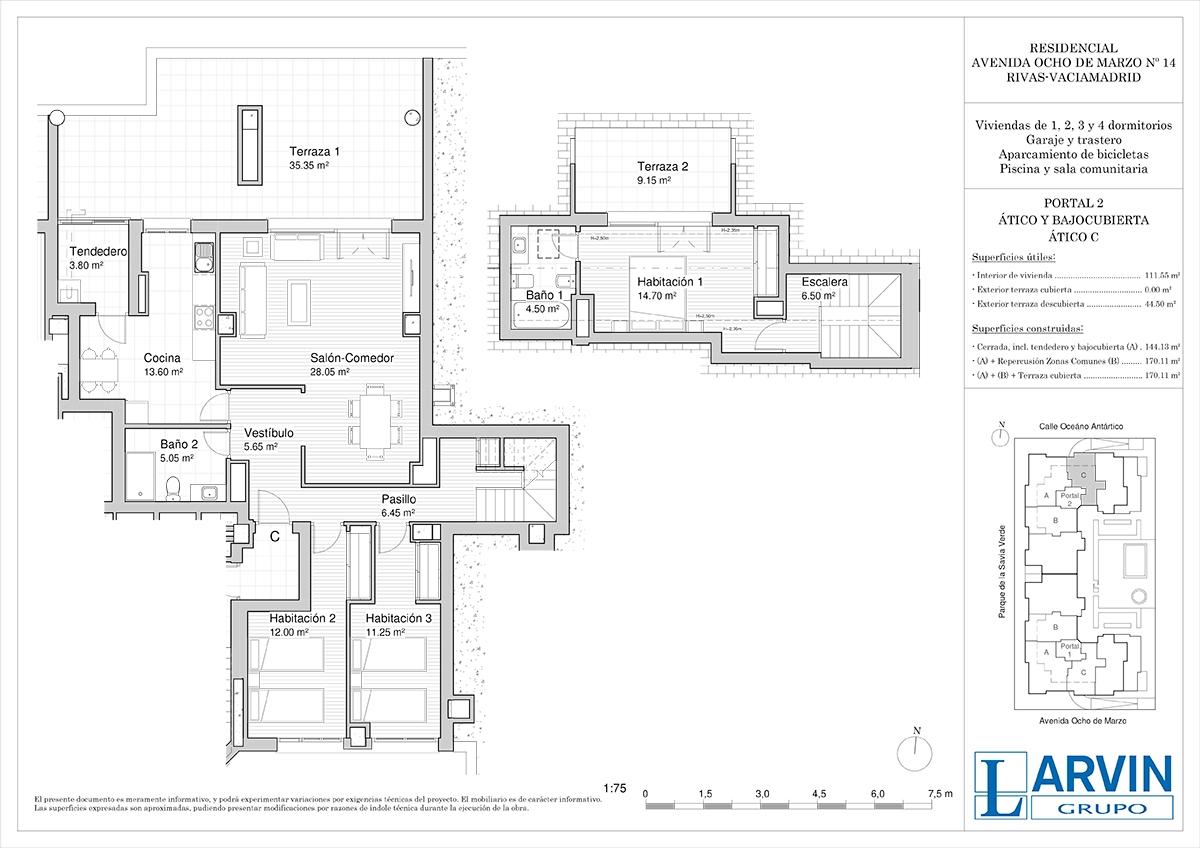 plano piso rivas residencial 8 de marzo atico